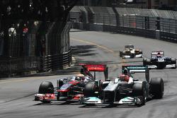 Lewis Hamilton, McLaren Mercedes ve Michael Schumacher, Mercedes GP