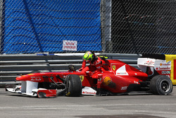 Felipe Massa, Scuderia Ferrari has a kaza