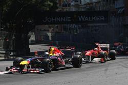 Sebastian Vettel, Red Bull Racing y Fernando Alonso, Scuderia Ferrari