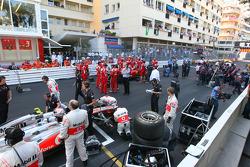 Cars go back onto grid