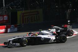 Pastor Maldonado, Williams F1 Team ve Lewis Hamilton, McLaren Mercedes kaza