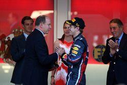 Sebastian Vettel, Red Bull Racing y el príncipe Alberto de Mónaco