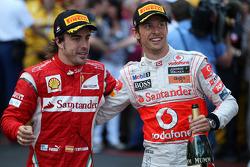 Fernando Alonso, Scuderia Ferrari, Jenson Button, McLaren Mercedes