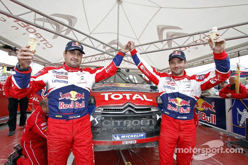 Winnaars Sebastien Loeb en Daniel Elena