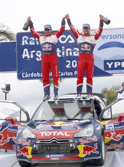 Podium: winnaars Sebastien Loeb en Daniel Elena