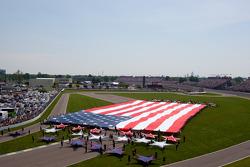 Bandera de Estados Unidos se muestra en la curva 1