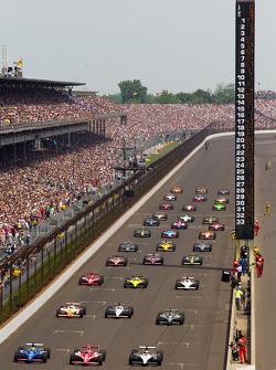 Pace lap: Alex Tagliani, Sam Schmidt Motorsports, Scott Dixon, Target Chip Ganassi Racing y Oriol Se