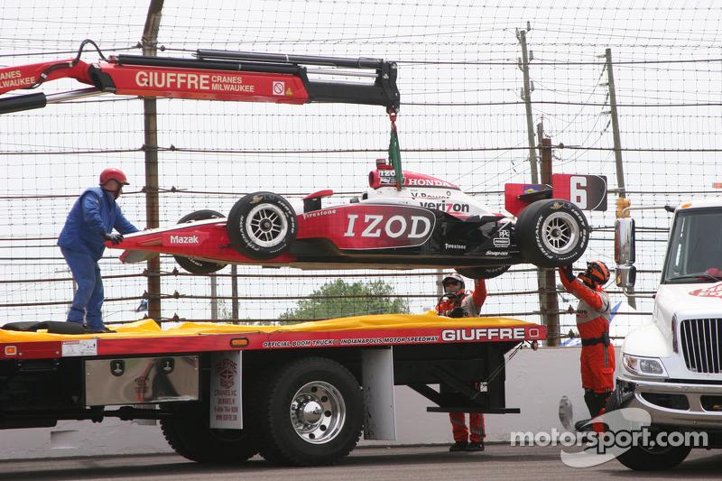 Crash Ryan Briscoe, Team Penske