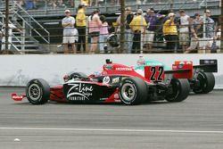 Justin Wilson, Dreyer & Reinbold Racing, Charlie Kimball, Novo Nordisk Chip Ganassi Racing