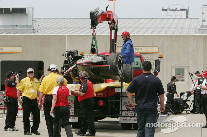Crash J.R. Hildebrand, Panther Racing