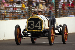 Vintage Indy cars on track: Lyn St. James drives a 1911 car