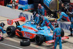 Pit stop for John Andretti, Richard Petty / Andretti Autosport