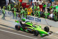 Passage aux stands pour Danica Patrick, Andretti Autosport