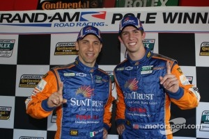 Max Angelelli and Ricky Taylor celebrate pole award