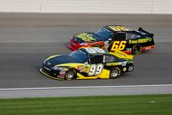 Ryan Truex, Pastrana Waltrip Racing Toyota and Steve Wallace, Rusty Wallace Toyota