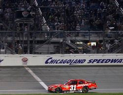 Justin Allgaier, Turner Motorsport Chevrolet takes the checkered flag
