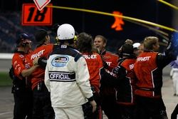 Justin Allgaier's team celebrates
