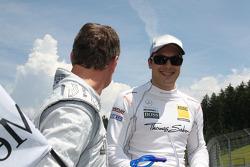 David Coulthard, Mücke Motorsport, AMG Mercedes C-Klasse and Gary Paffett, Team HWA AMG Mercedes C-Klasse