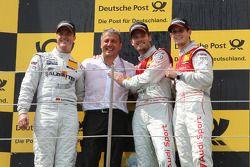 Ralf Schumacher, Team HWA AMG Mercedes C-Klasse, Ernst Moser, Team principal of Audi Sport Team Phoe
