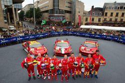 #61 AF Corse Ferrari F430: Pierguiseppe Perazzini, Marco Cioci, Sean Paul Breslin, #51 AF Corse Ferr
