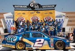 Victory lane: Brad Keselowski, Penske Racing Dodge