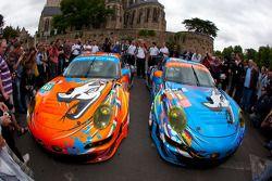 Voorstelling Flying Lizard Motorsports Porsche 911 RSR