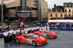 #59 Luxury Racing Ferrari 458 Italia: Stéphane Ortelli, Frédéric Makowiecki, Jaime Melo, #58 Luxury