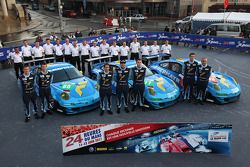 #88 Team Felbermayr-Proton Porsche 911 RSR: Abdulaziz Al Faisal, Nick Tandy, Bryce Miller, #77 Team