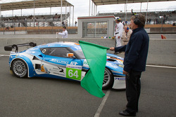 #64 Lotus Jetalliance Lotus Evora: Oskar Slingerland, Martin Rich, John Hartshorne takes the green flag