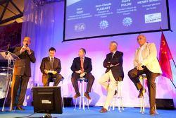ACO persconferentie: ACO vice-president Pierre Fillion, FIA President Jean Todt en ACO President Jea