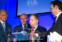 ACO persconferentie: FIA President Jean Todt tekenen akkoord tussen FIA en ACO