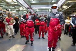 Audi Sport team in de pitlane