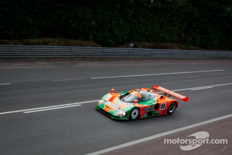 The Mazda 787B ganador de las 24 Horas de Le Mans de 1991, conducido por Patrick Dempsey
