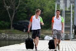 Nico Hulkenberg, Force India F1 Team en Adrian Sutil, Force India F1 Team