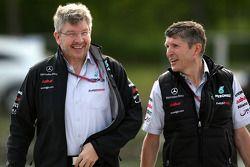 Ross Brawn Mercedes GP Petronas and Nick Fry