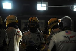 The Corvette crew waits for a pit stop