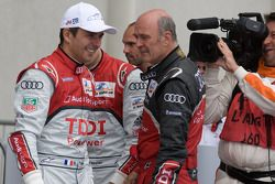Race winnaar Benoit Tréluyer met Dr. Wolfgang Ullrich