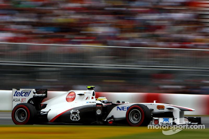 2011 год. Педро де ла Роса. 1 гонка в Sauber