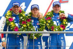 LM GTE Am podium: 2de Christophe Bourret, Pascal Gibon, Jean-Philippe Belloc