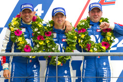 LM GTE Am podium: 2de Christophe Bourret, Pascal Gibon, Jean-Philippe Belloc
