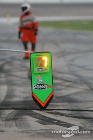 Lighted pit borad sign for Dancia Patrick, Andretti Autosport
