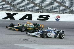 Davey Hamilton, Dreyer & Reinbold Racing and Tony Kanaan, KV Racing Technology-Lotus