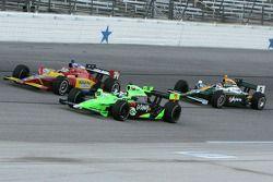 Danica Patrick, Andretti Autosport and Sebastian Saavedra, Conquest Racing and Takuma Sato, KV Racin
