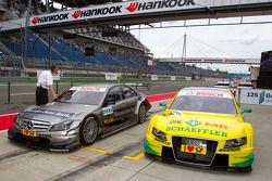 Pole winner Bruno Spengler, Team HWA AMG Mercedes C-Klasse enters parc fermé