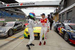 Pole winner Bruno Spengler, Team HWA AMG Mercedes with third place Mattias Ekström, Audi Sport Team Abt
