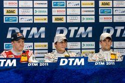 Press conference: pole winner Bruno Spengler, Team HWA AMG Mercedes, second place Jamie Green, Team