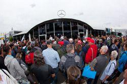 Norbert Norbert Haug, Sporting Director Mercedes-Benz, meets fans at the Mercedes-Benz hospitality
