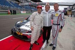 Equipo de Ducati, Nicky Hayden, Norbert Haug, Director de Mercedes-Benz y David Coulthard, Mücke Mot