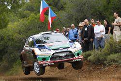 Mikko Hirvonen et Jarmo Lehtinen, Ford Fiesta RS WRC, BP Ford Abu Dhabi World Rally Team
