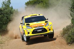 Henning Solberg en Ilka Minor, Ford Fiesta RS WRC, M-Sport Stobart Ford World Rally Team